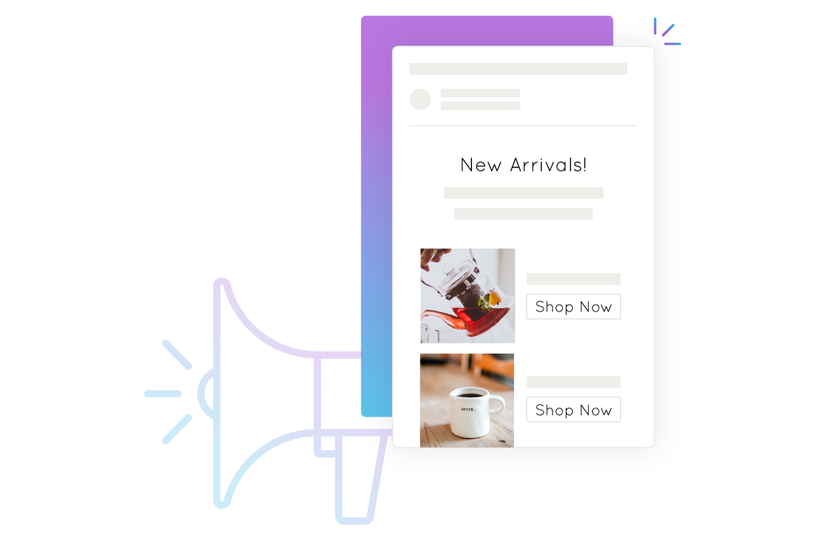 Infographic of conceptual New Arrival emails