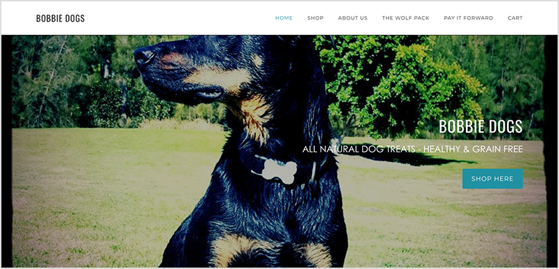 Bobbie Dogs Homepage.png