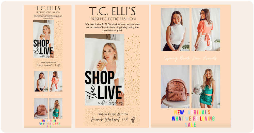 T.C. Elli's uses captivating one-off campaigns (powered by Marsello) to engage and delight their customers.